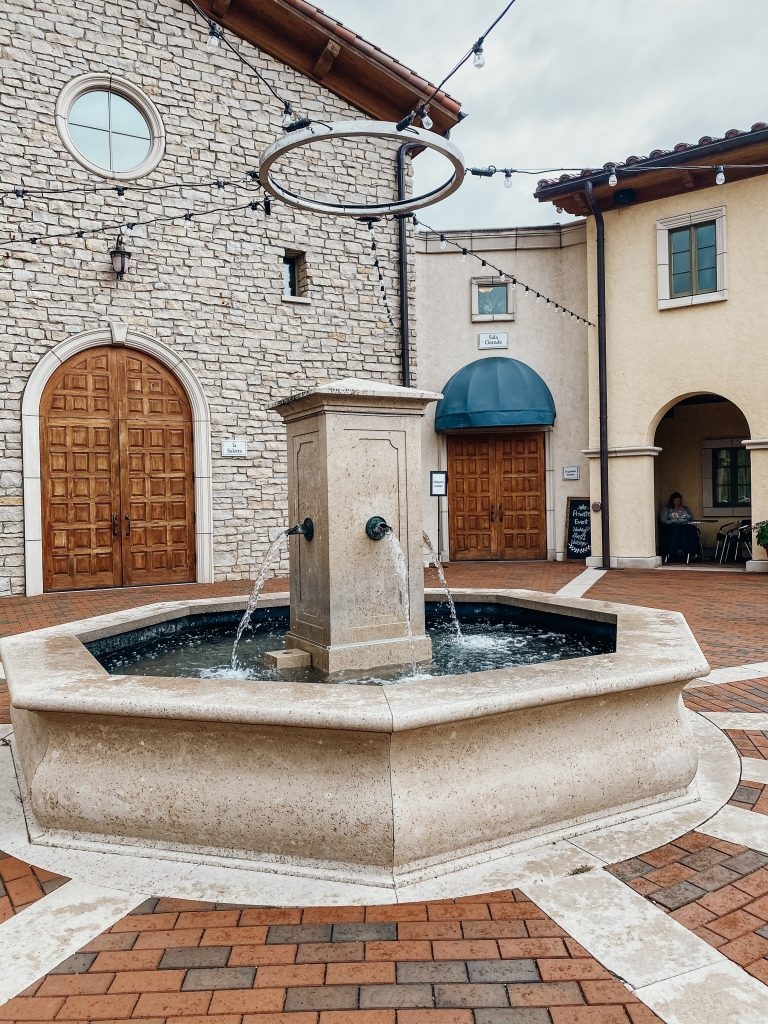 Fountain and Piazza Villa Bellezza - Pepin WI