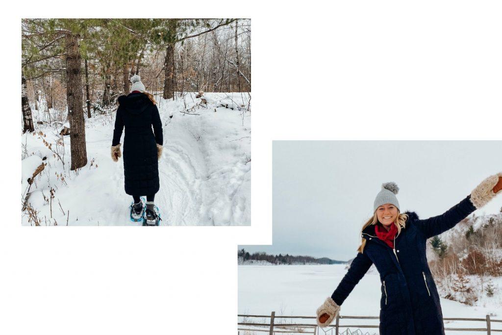 snowshoeing in crosby cuyuna