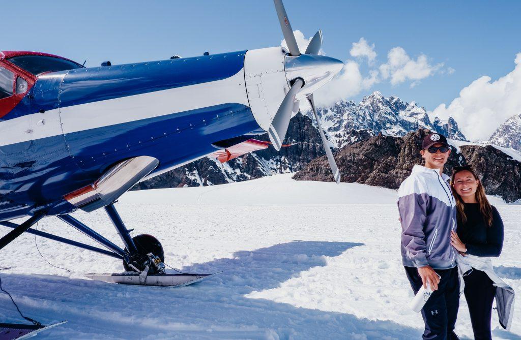 glacier landing - talkeetna air denali